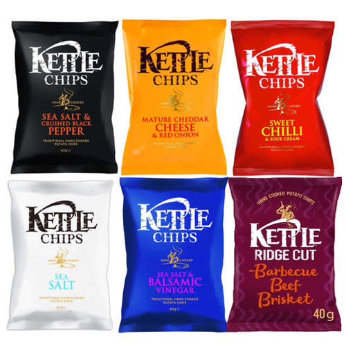 Kettle Chips (Crisps) Mixed Case 40g x 18