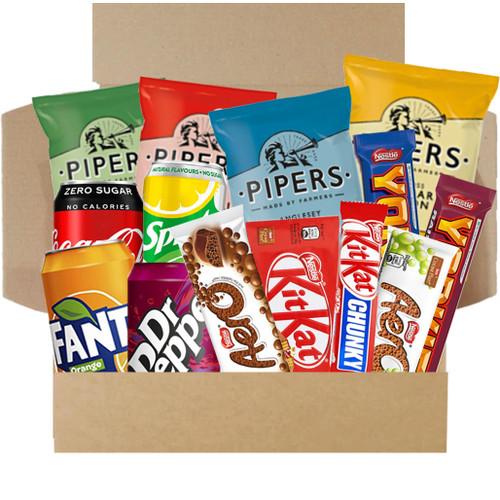 Munchies Snack Box - Crisps, Drinks & Chocolate Box
