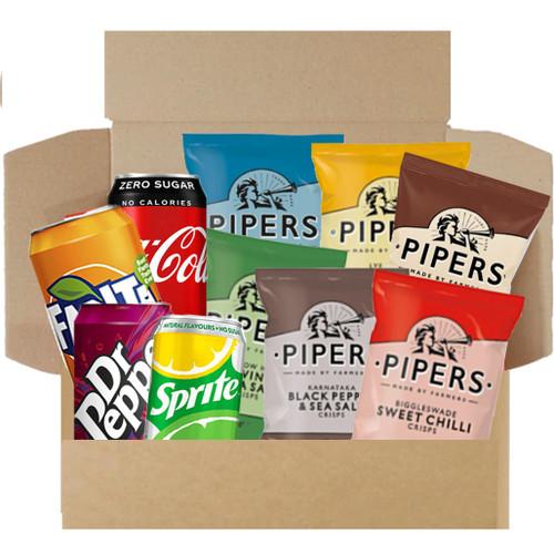 Munchies Savoury Snack Box - Crisps & Drinks Box