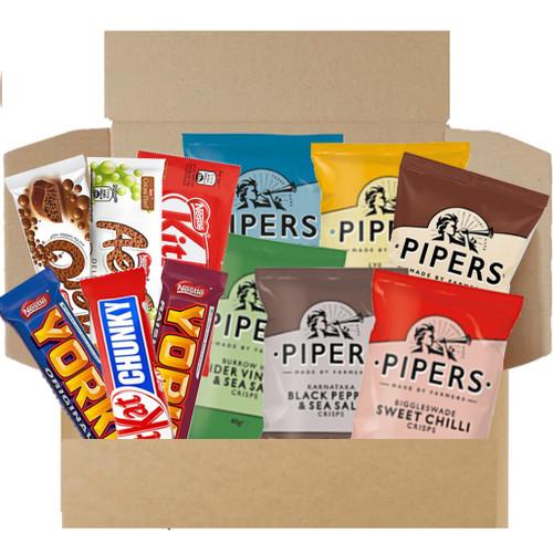 Munchies Savoury & Sweet Snack Box - Crisps & Chocolate Box