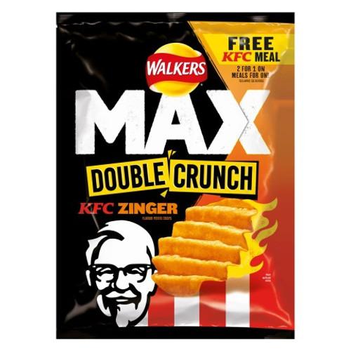 Walkers Crisps Max Double Crunch - KFC Zinger 50g x 24