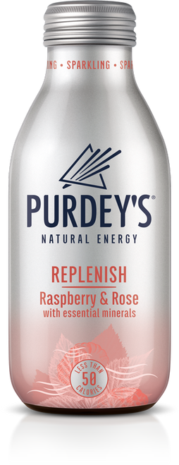 Purdeys Natural Energy - Replenish Raspberry & Rose 330ml x 12