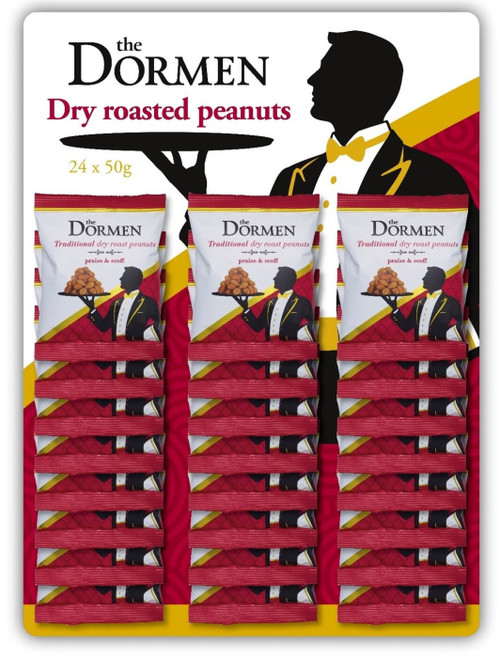 Dormen Dry Roasted Peanuts CARDED 24 x 50g