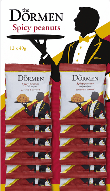 Dormen Spicy Peanuts CARDED 12 x 40g