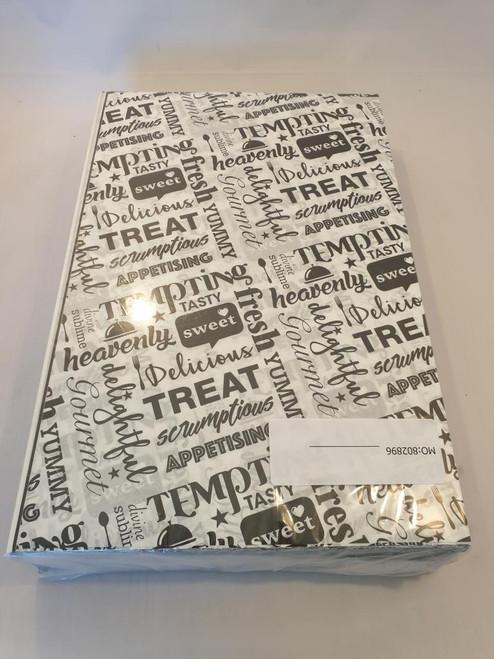 Burger/ Food Wraps Printed Tempting Treat 375 x 245mm x 1000
