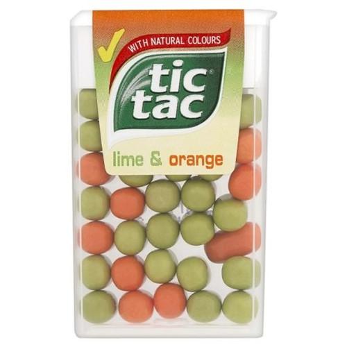 Tic Tac Lime & Orange 18g x 24
