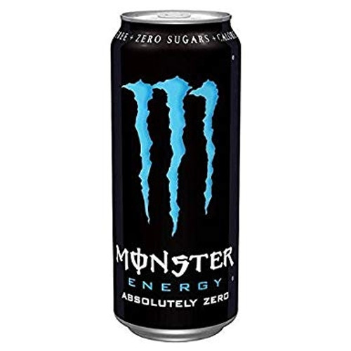 Monster Energy Absolute Zero Cans (Non Price Marked) 500ml x 12