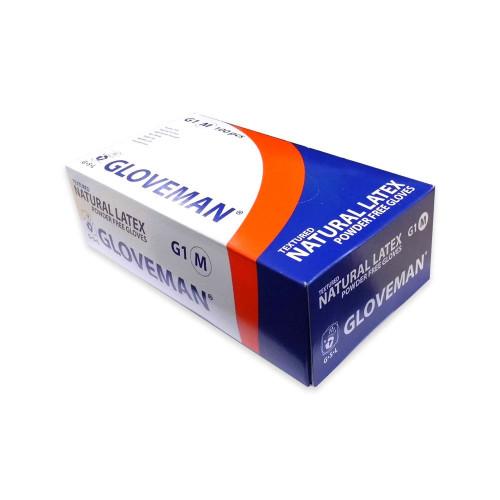 Gloveman Powder Free Latex Meduim Gloves Clear 1 x 100