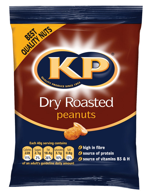 KP Peanuts - Dry Roasted Nuts (Carded) 50g x 21