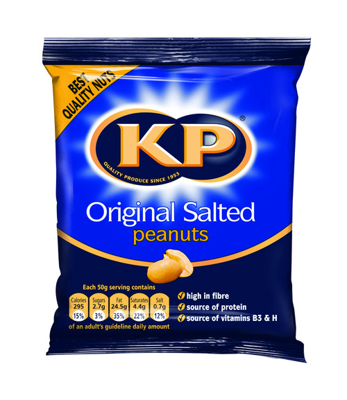 KP Peanuts - Salted Nuts (Carded) 50g x 21