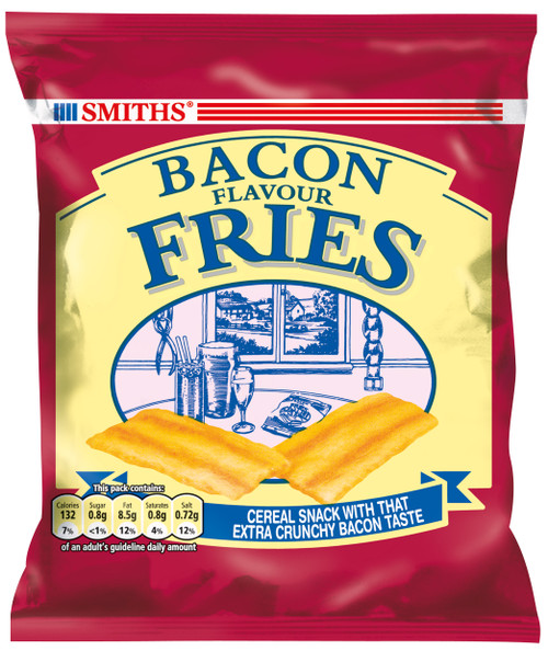 Smiths Carded Snacks - Bacon Fries 24g x 24