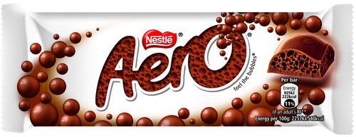 Nestle Aero Milk Chocolate Bubbly Bar 40g x 24