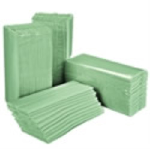 Centre Fold Hand Towels Green 1ply x 3600