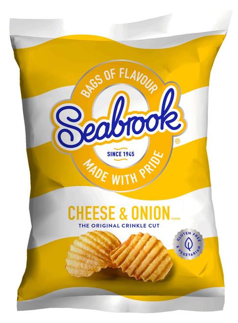 Seabrook Crisps Crinkle Cut - Cheese & Onion 31.8g x 32