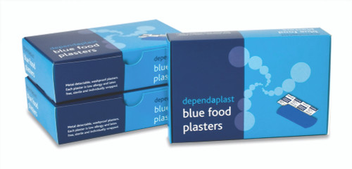 Blue Detectable Food Plasters Assorted Sizes x 100