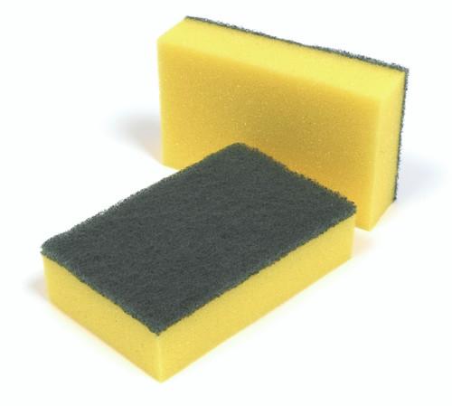 Scourers - Sponge Green/Yellow x 10