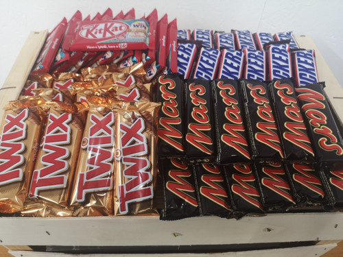 Mixed Chocolate Case x 48 - Mars x 12, Snickers x 12, Kitkat x 12, Twix x 12
