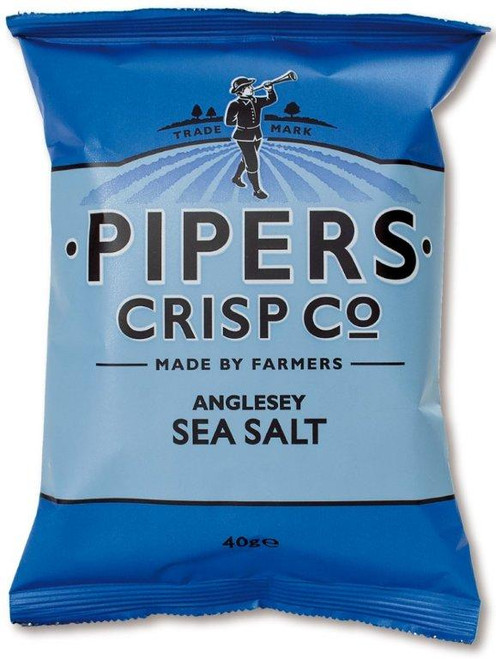Pipers Crisps - Anglesey Sea Salt 40g x 24