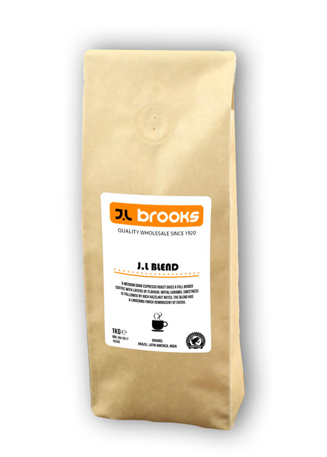 Coffee Beans - JL Blend Arabica & Robusta Medium Roast Espresso Beans 1kg