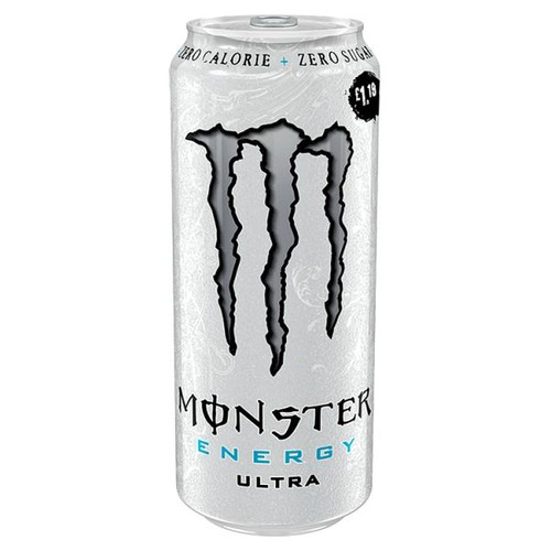 Monster Energy Ultra White Zero (Price Marked £1.29) Cans 500ml x 12