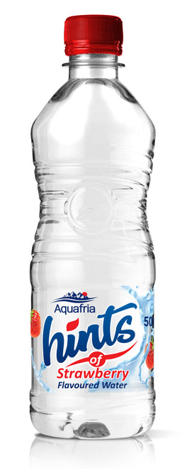 Aquafria Hints Strawberry Flavoured Water Plastic Bottles 500ml x 12
