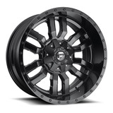 Isuzu D-Max and MU-X 20'' Fuel Sledge alloys with highway tyres. Black finish. 265/50/20