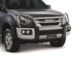 Constructed with heavy-duty alloy, this Isuzu bull bar is designed and rigorously tested to ensure durability. Airbag compatibility maintains a five star ANCAP rating when fitted to applicable D-Max ute models. Compatible with LS models with fog lights.