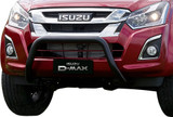 Isuzu black front nudge bar. Kit includes all mounting hardware. Airbag tested and rated