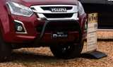 Black Isuzu D-Max Nudge Bar fitted to an LS Double Cab ute.