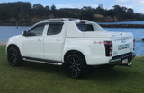 Isuzu D-Max lockable Splash White Cargo spoiler hardlid. Suits Double cab. Kit includes all mounting hardware.