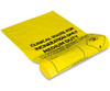 Yellow Biohazard/Clinical Waste Bags with Adhesive Sealing Strip