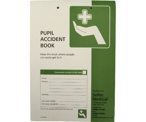 Pupil Accident Report Book + FREE PEN