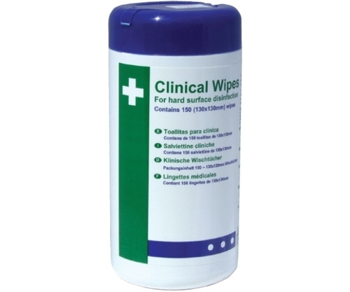 Clinical Alcohol Hard Surface Disinfection Wipes (Pack of 150)