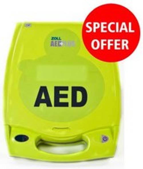 Zoll AED Plus Semi-Automatic Defibrillator with Alarmed Cabinet