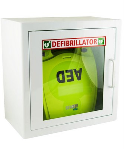 Zoll AED Plus Semi-Automatic Defibrillator with Alarmed Cabinet