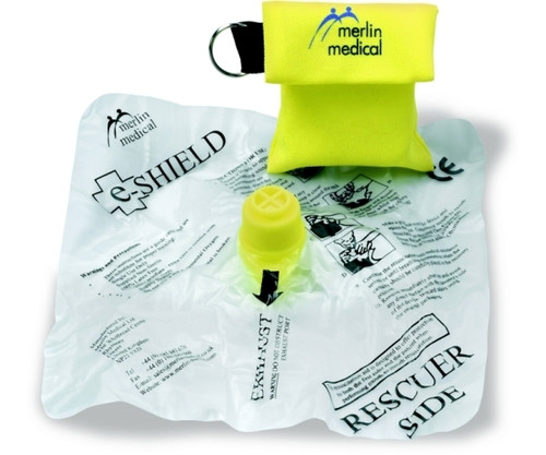 E-Shield Resuscitator in Keyring Pouch