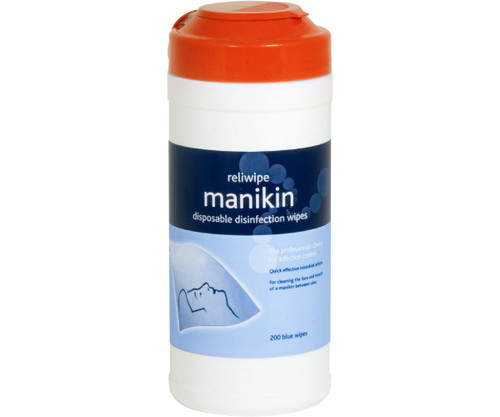 Manikin cleansing wipes (Drum pack of 200)