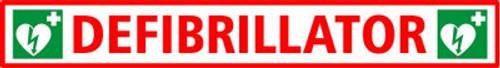 Defibrillator Sign Self Adhesive 35x5cm