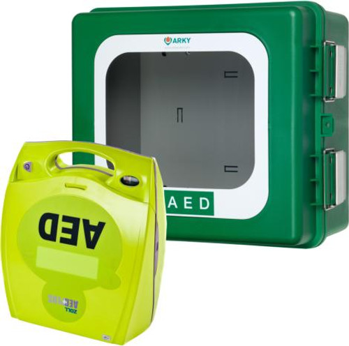 Zoll AED Plus Semi-Automatic Defibrillator with Outdoor Heated Cabinet