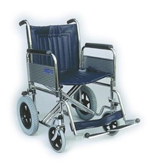 Heavy-Duty Steel Transit Wheelchair with folding back