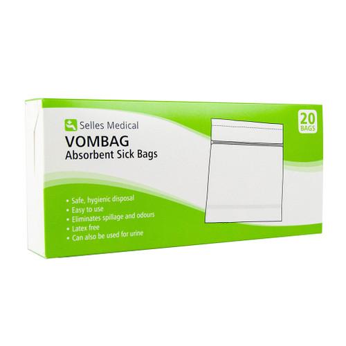 Vombag Absorbent Sick Bags Pk20