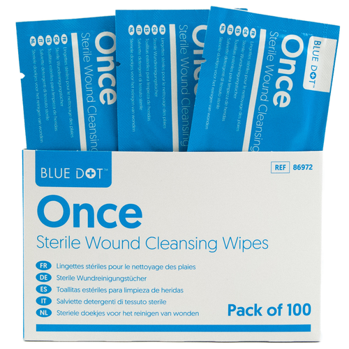 Once Sterile Saline Cleansing Wipes