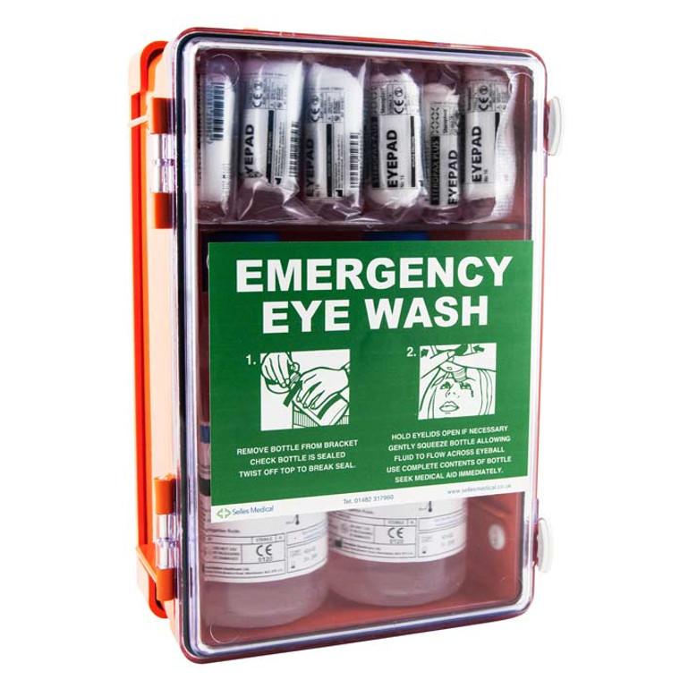 Orange Eyewash Cabinet