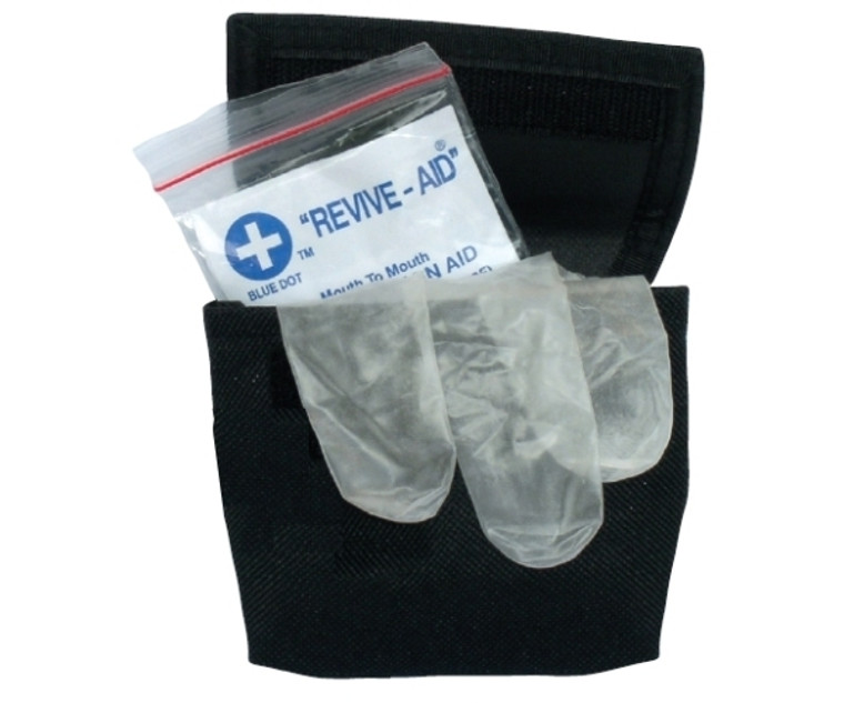 Resuscitation Kit in a Nylon Black Belt Pouch