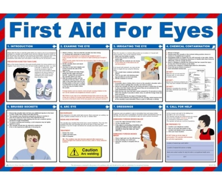 First Aid for Eyes Poster (840 x 590mm)