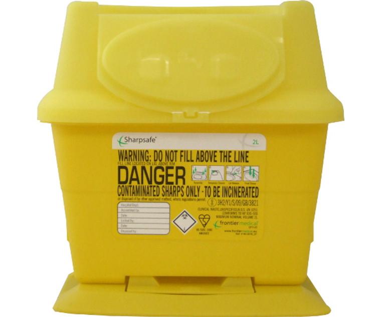Sharpsafe Disposal Bin (2 Litre)