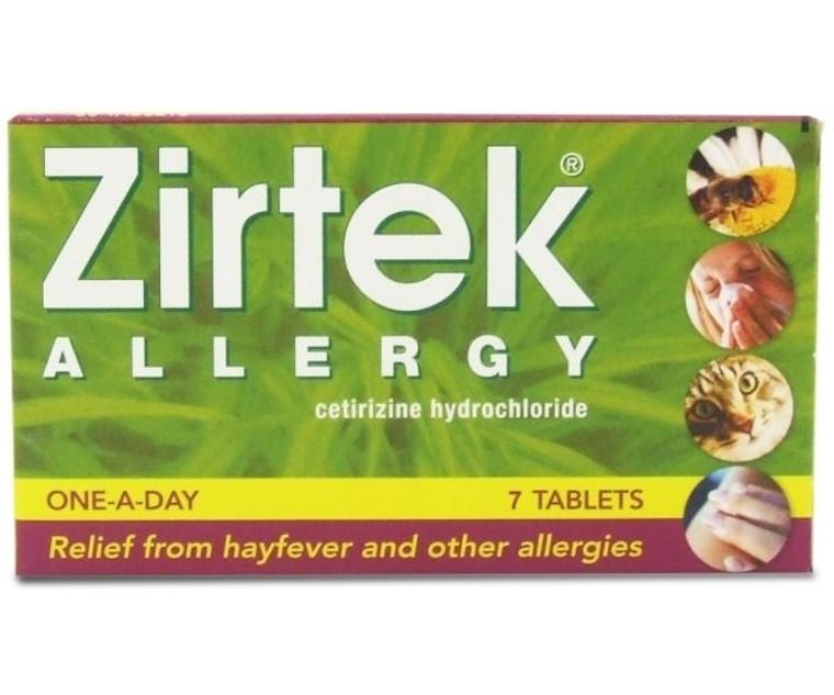 Zirtek Allergy Relief Tablets (Pack of 7)
