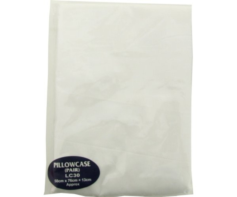 Pillow Case White Polycotton (1 pair)