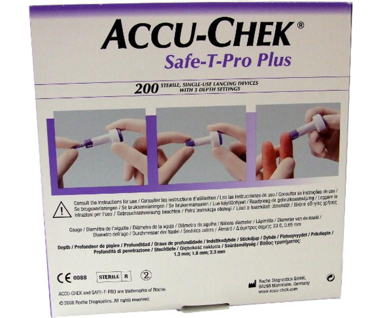 Accuchek Safe-T-Pro Plus Single Use Lancing Sampling Device (Pack of 200)