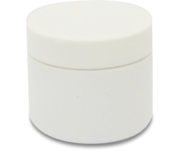 White Plastic Jar with Lid